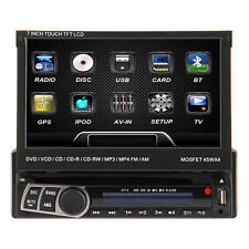 "7"" Touch Screen 1 Din Dash Car DVD CD USB SD Player Radio RDS Bluetooth R Stereo"