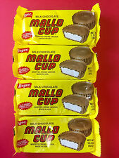 Mallo Cup 4ct Candy Bar - Milk Choc Whipped Creme Center - FREE THERMAL SHIPPING