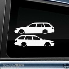 (736) 2x Fun Sticker Aufkleber  low and Slow BMW E39 Touring M5 Motorsport
