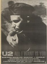 17/6/89Pgn09 Advert: U2 'all I Want Is You' New Single Island Records 15x11