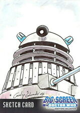 Dr Doctor Who Big Screen Additions Sketch Card by Carolyn Edwards /2
