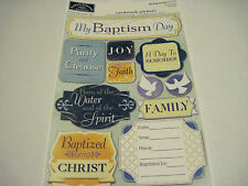 Scrapbooking Crafts Karen Foster Stickers My Baptism Day Family Phrases Tags