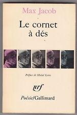 Le cornet à dés - Max Jacob. Man Ray photo de couv . nrf poésie Gallimard 1967