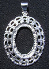 Setting Bezel Mount Silver Gold Cab Cabochon Cameo Oval,  ALL SIZES,  1 to 4 Qty