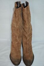 NEW Vic Matie Dark Tan Suede & Leather Pull On Boots size 41 UK 8 RRP £245