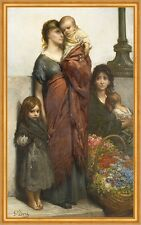 Flower sellers of London Gustave Dore chica pobreza infantil madre B a2 02176