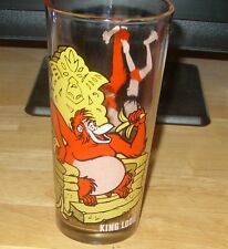 1977 Pepsi King Looie Jungle Book Glass.Great Condition.White Letters.Brockway