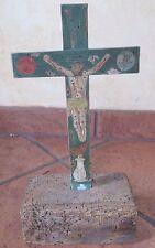 Carved and polychrome Wood Cruz de Animas