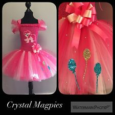 Pinkie Pie My Little Pony Inspired Party Tutu Dress With Crystals And Glitter