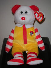 Ty Beanie Baby ~ FULL SIZE RONALD McDONALD the Bear - MINT with MINT TAGS