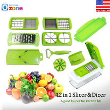 Super Slicer Plus Vegetable Peeler Fruit Cutter Dicer Nicer Grater Chopper 12Pcs