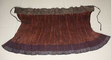 Tribal exotic Chinese Miao people's local cloth hand embroidery  pleated skirt