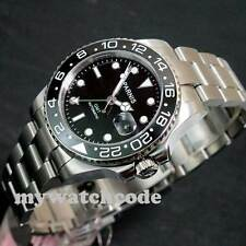 40mm Parnis luminous Sapphire glass Ceramic bezel GMT automatic mens watch P119