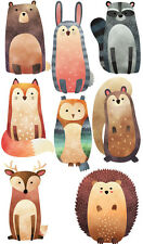 Woodland Creatures Forest Squirrel Birds Nursery Wall Stickers