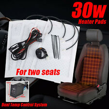 2seats Universal Carbon Fiber Heated Seat Heater Pad Kit 2 Dial 5-Level Switch