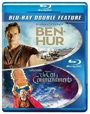 Blu Ray BEN HUR & THE TEN COMMANDMENTS. 4 discs. Charlton Heston. New sealed.