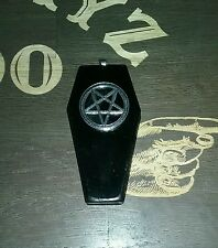 Handmade Pentagram Coffin Necklace Large Pendant Satan Occult Gothic Witch
