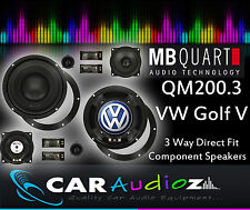 MB Quart QM200.3 VW Golf V Custom Speaker Upgrade Component Kit 3 way 8""