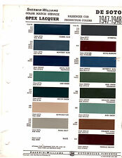 1946 1947 1948 DE SOTO DELUXE CUSTOM COUPE PAINT CHIPS 4748 SHERWIN WILLIAMS