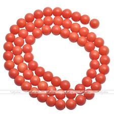 4/6/8/10/12mm Quality Czech Opaque Coated Glass Pearl Round Loose Beads Charms