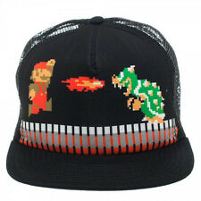 Official Nintendo SUPER MARIO BROS SNAPBACK HAT Trucker Baseball Cap -OLD SCHOOL