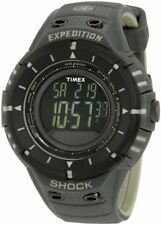 Timex Mens T49612 Expedition Trail Series Shock Digital Compass Black/Green Resi