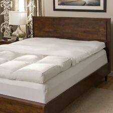 Full Size 5-inch Featherbed Mattress Topper 230 Thread Count Baffled Set + Cover