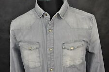 ALL SAINTS LAURO MENS DENIM SHIRT size L