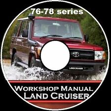 TOYOTA Landcruiser 76 78 79 Series VDJ DIESEL V8 Workshop  Repair Manual CD