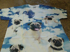 Pug Mens Dog Funny Sky White T-Shirt  Size 3XL