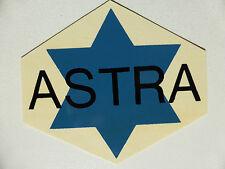 Astra Schriftzug Wasserabziehbild 70 x 60 mm, 00520A , blau/schwarz