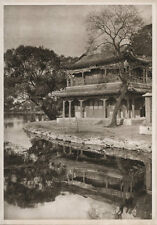 1920's CHINA GRAVURE PAGEANT OF PEKING DONALD MENNIE - THE ISLAND PALACE