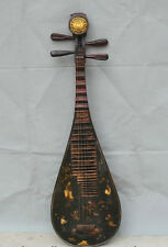 """41"""" Old Classical Chinese Wood Lacquerware Belle 4 String Instrument Pipa Lute S"""