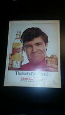 """1970 Johnnie Walker Red Vintage Magazine Ad """"The luck of the Scotch."""""""