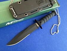 """Mtech 6"""" Kabai Tactical Neck Knife With Kydex Sheath and Beaded Chain 632CB"""