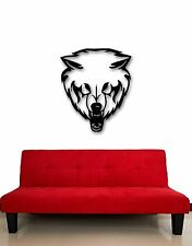 Wall Stickers Vinyl Decal Wolf Predator Animal Tribal Rage (ig504)