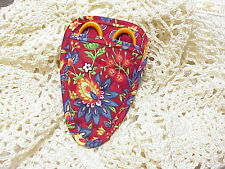 French Country on Red fabric Quilted embroidery scissor holder CUTE