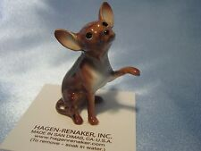 Hagen Renaker Dog Large Chihuahua Brown Figurine Miniature 1019 Porcelain