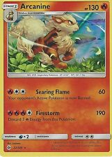 POKEMON SUN & MOON CARD: ARCANINE - 22/149 - RARE HOLO