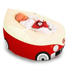 STARBUY Luxury Cuddlesoft Campervan Gaga Baby Bean Bag Red