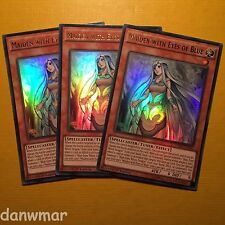 3 x Maiden with Eyes of Blue ~ Ultra Rare ~ YuGiOh! ~ 1st Edition~ White Dragon!