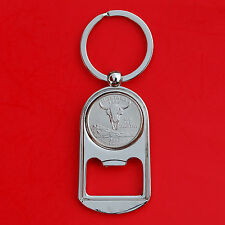 US 2007 Montana State Quarter BU Unc Coin Key Chain Ring Bottle Opener NEW