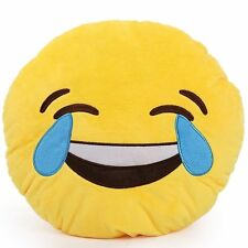 New EMOJI EMOTICON Pillow Plush LAUGHING WITH TEARS Yellow Dorm Room Toy gift
