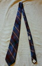 pink, red, light blue, dark blue plaid regalon tie