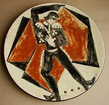 Russian Ukrainian Soviet ceramic plate avant-garde painting ballet theater RARE