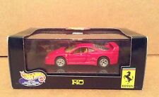Hot Wheels red Ferrari F40 car vehicle 1:43 diecast metal NEW