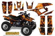 YAMAHA WARRIOR 350 GRAPHICS KIT CREATORX DECALS STICKERS INFERNO O
