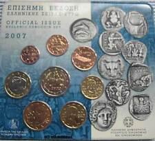 Griechenland Off. Kursmünzensatz KMS 2007 (1Cent - 2 Euro Kursmünze Stier) BU