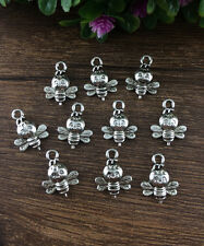 Wholesale 12pcs Tibet silver Bees Charm Pendant beaded Jewelry Findings HOT