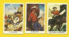 The Reno Kid Cowboy Indian Guns Arrows Horses Vintage 1960s Cards from Sweden